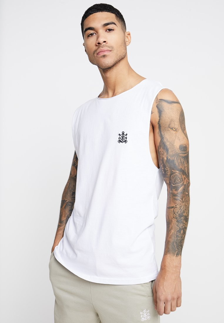 Refuse Resist - TRUTH SLEEVELESS TEE - T-shirt con stampa - white/black