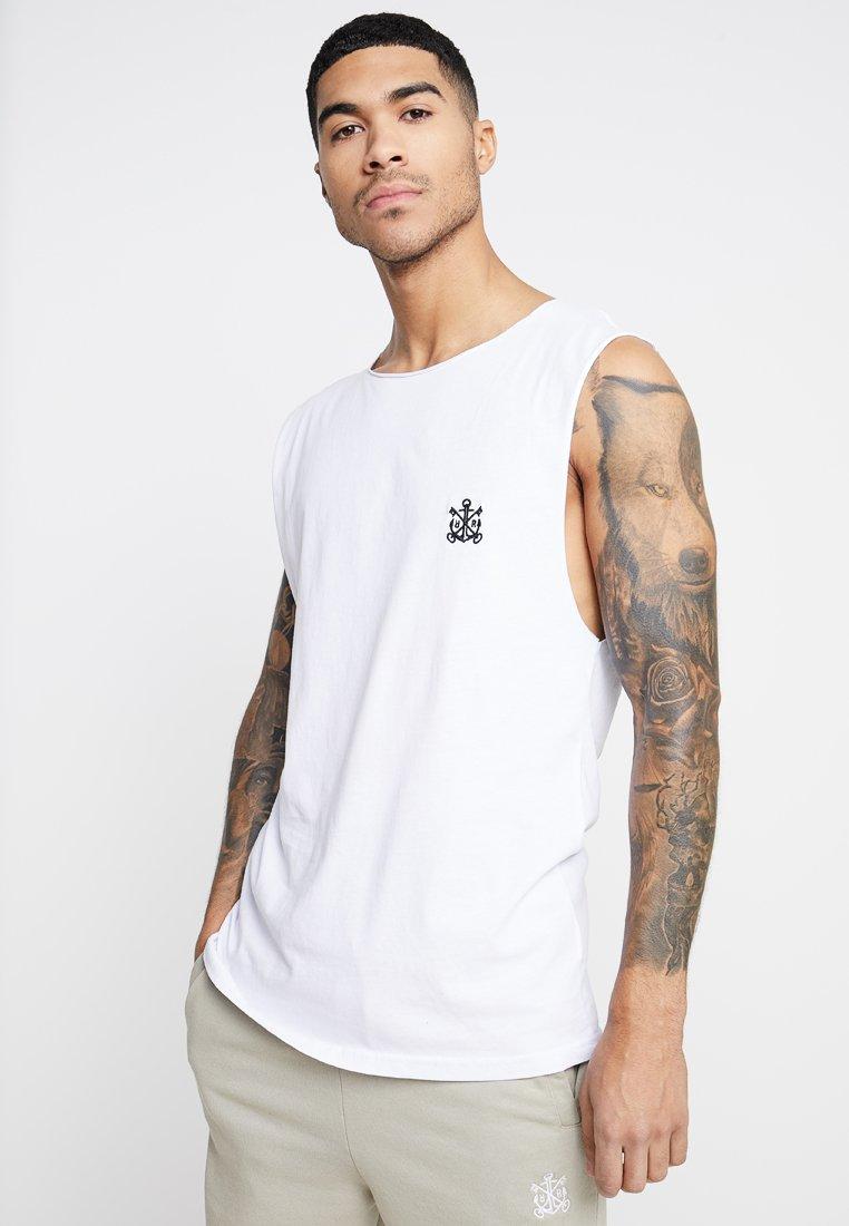 Refuse Resist - TRUTH SLEEVELESS TEE - Print T-shirt - white/black