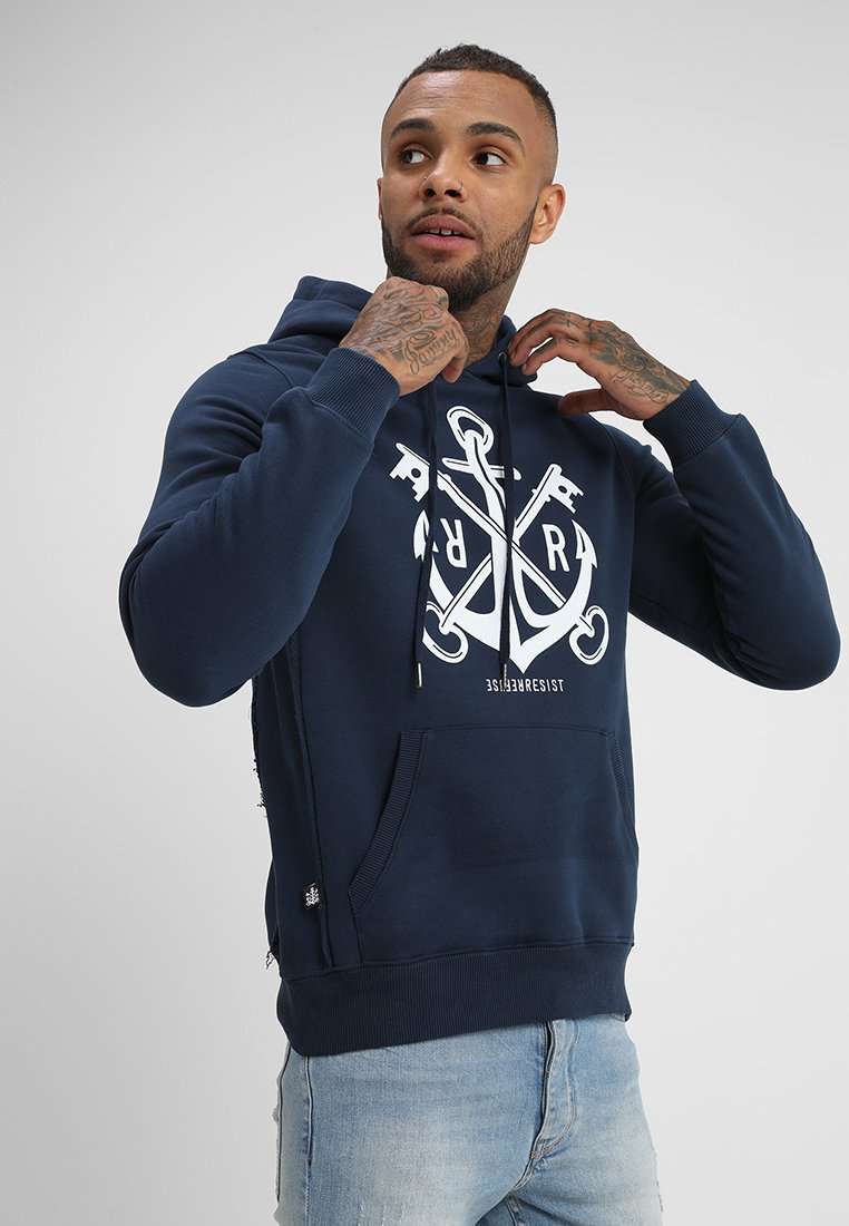 Refuse Resist - CODES HOODY - Hoodie - navy/white