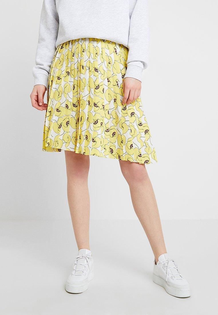 Résumé - MARGARET SKIRT - A-line skirt - yellow/off-white