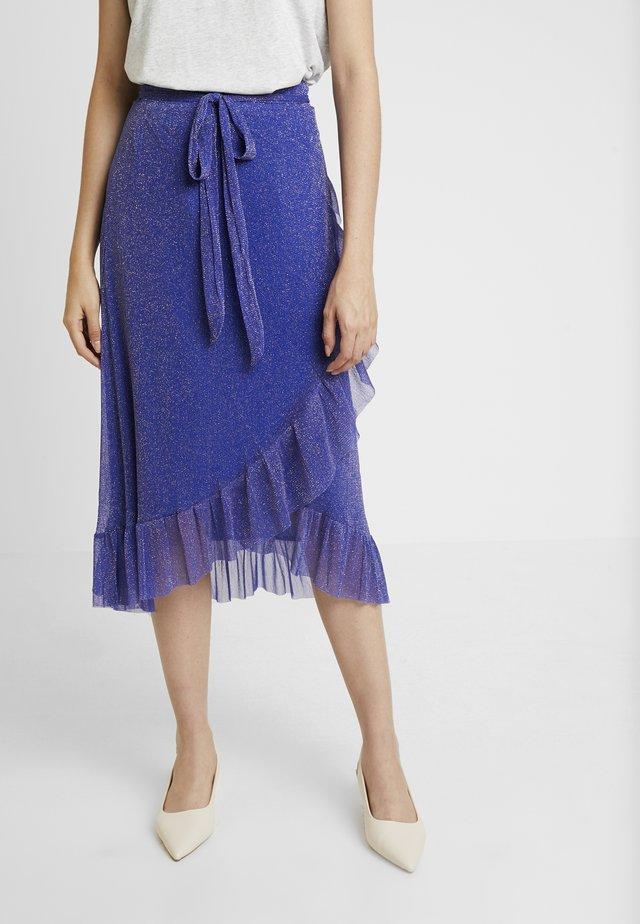 NINNET SKIRT - Wrap skirt - electric blue