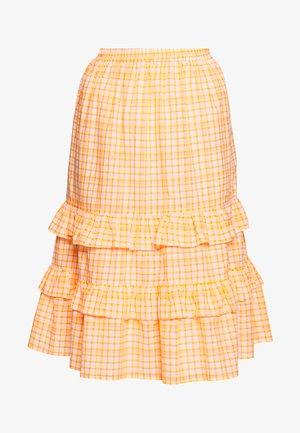 TRUDY SKIRT - Áčková sukně - neon orange