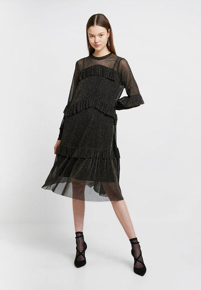 KATELYN DRESS - Cocktailkjole - black/gold