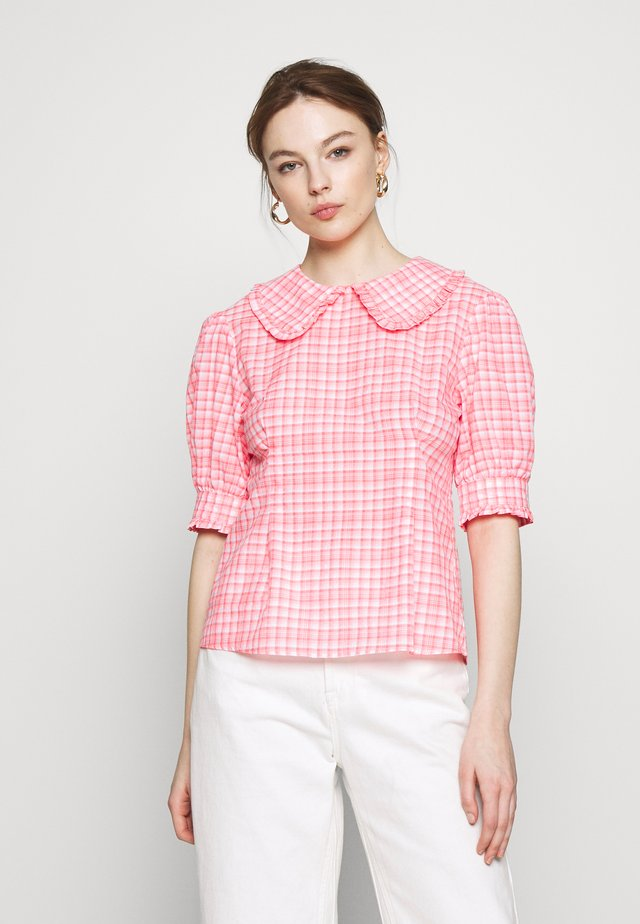 TIANNA BLOUSE - Bluse - neon pink