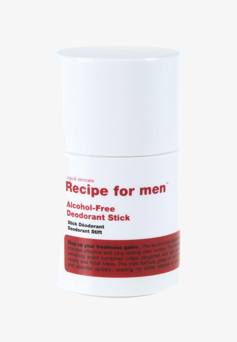 Recipe For Men - ALCOHOL FREE DEODORANT STICK 75ML - Déodorant - -