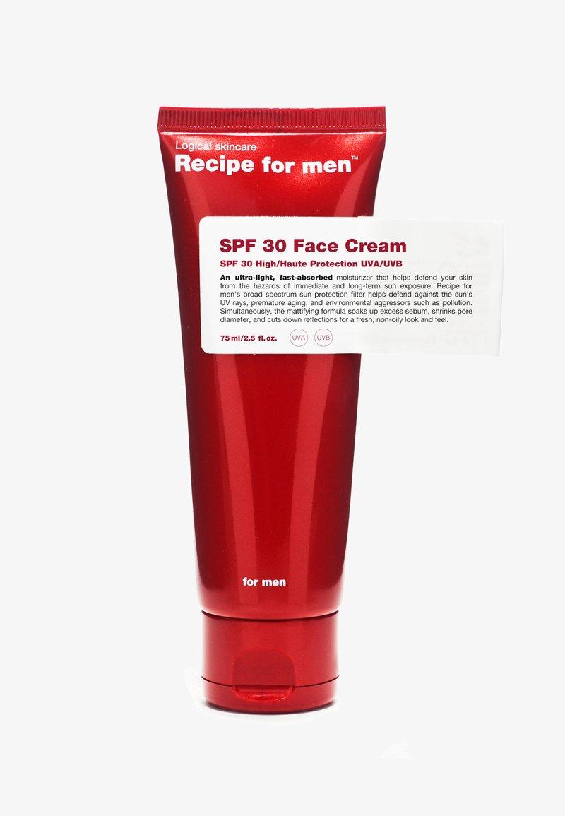 Recipe For Men - SPF 30 FACE CREAM - Gesichtscreme - -