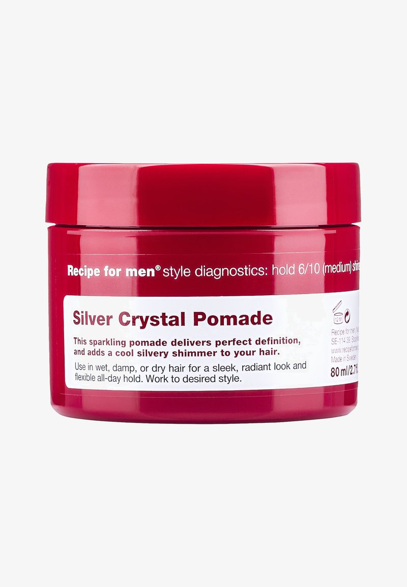 Recipe For Men - SILVER CRYSTAL POMADE 80ML - Hair styling - -