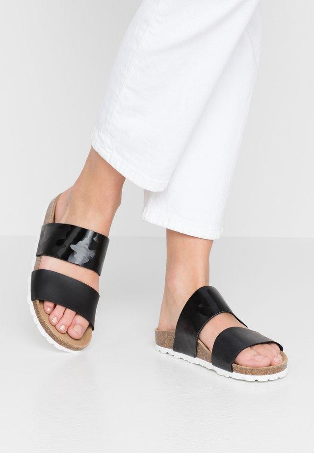 CASSAVIO CAMO - Pantofle - black
