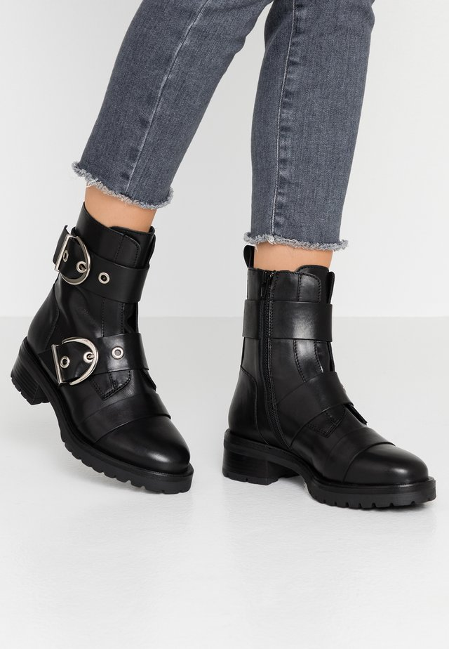 MOURA - Cowboy/biker ankle boot - black
