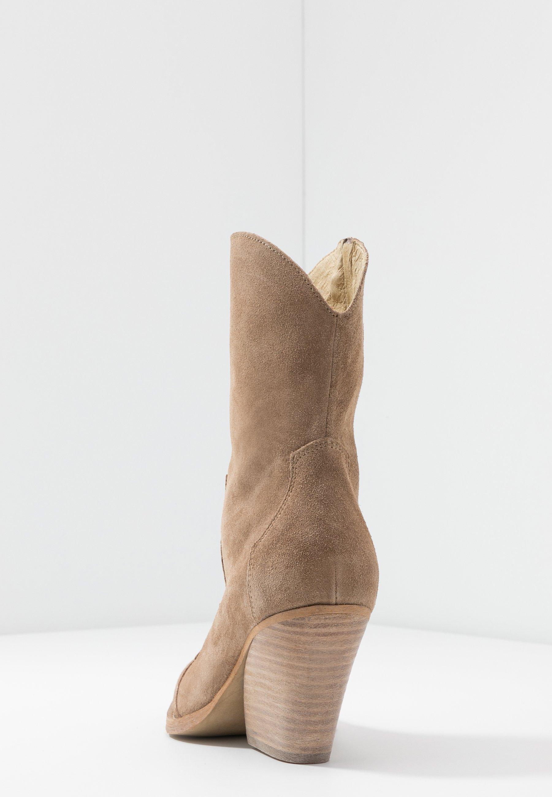 RE:DESIGNED REMSY - Højhælede støvletter - taupe