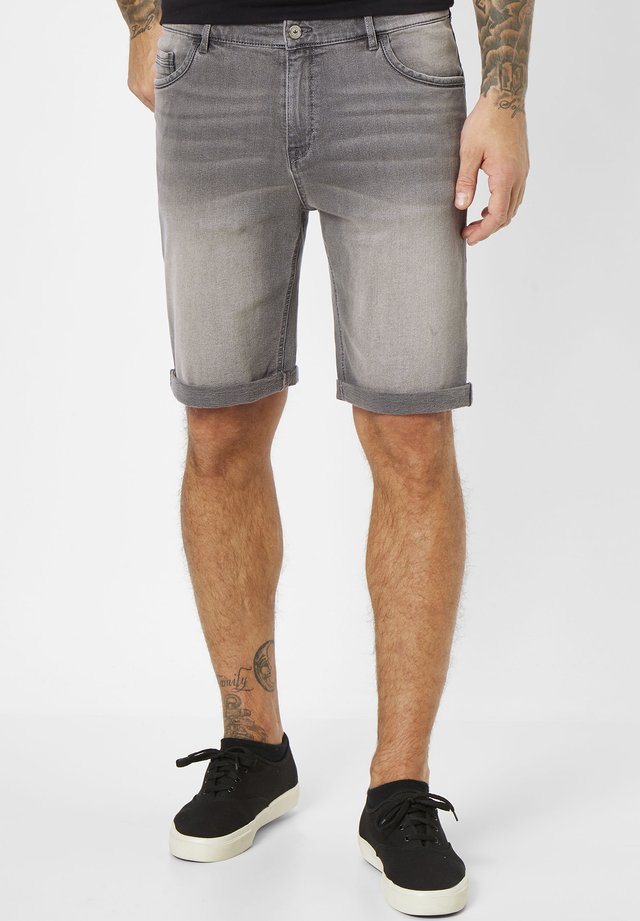 SHERBOOK - Denim shorts - mid grey