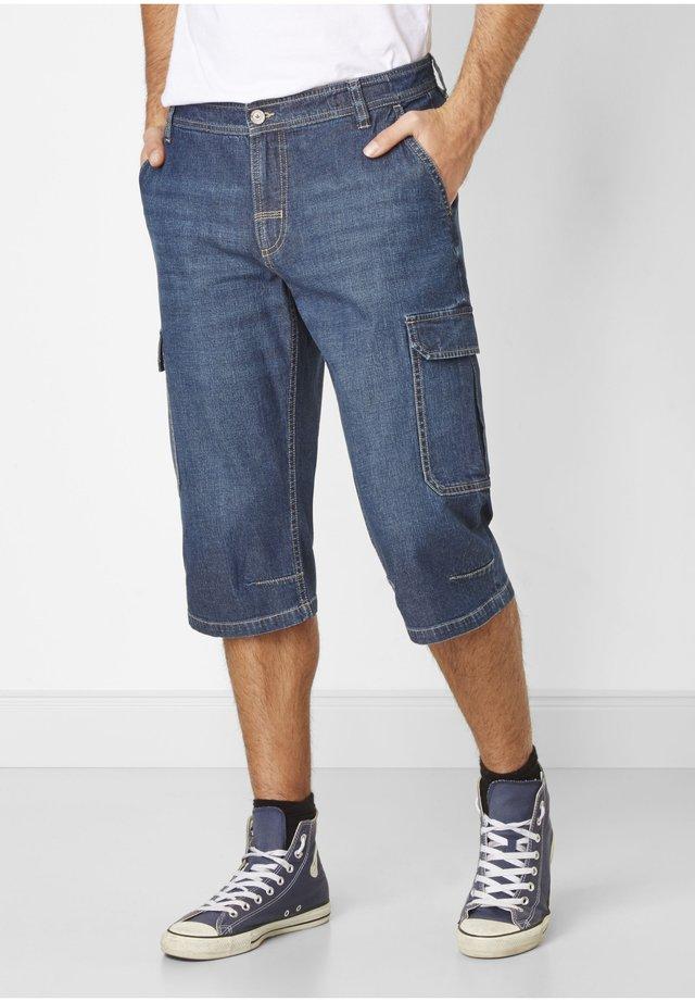 JORDY CARGO CAPRI - Denim shorts - dark stone used