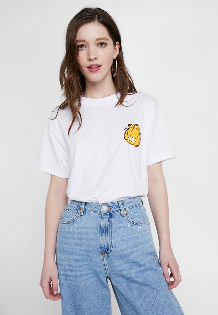 Revival Tee - GARFIELD TEE - T-shirt imprimé - white
