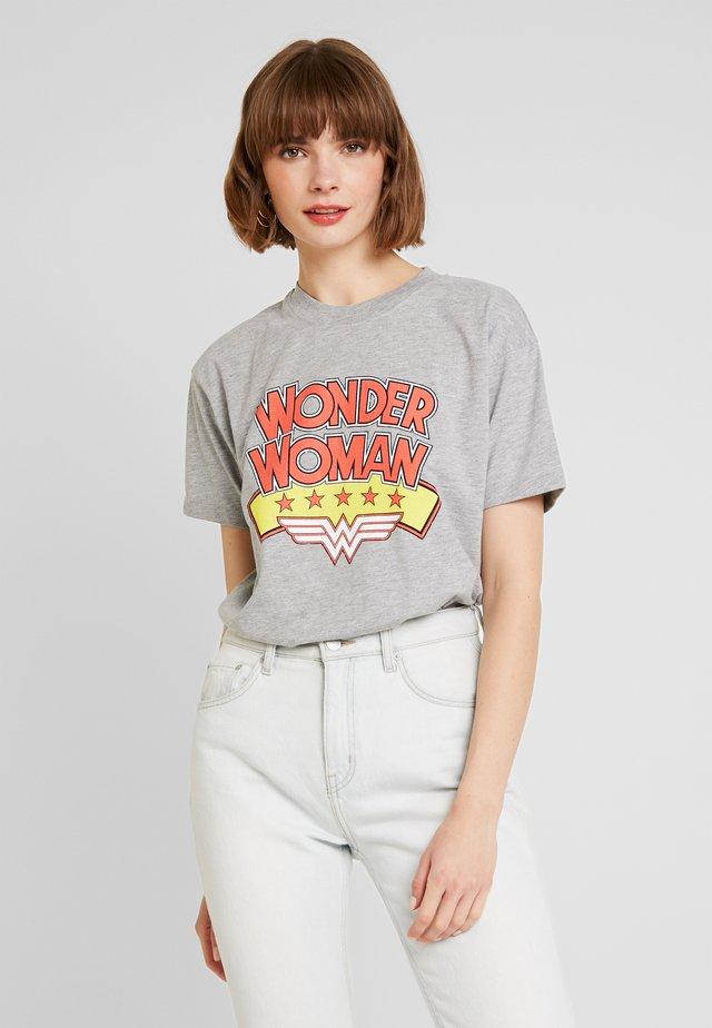 WOMAN TEE - T-shirt med print - grey marl