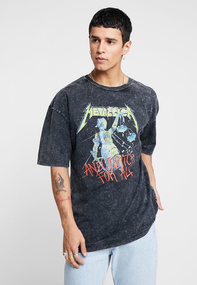 Revival Tee - METALLICA COLOR - T-shirt z nadrukiem - anthracite