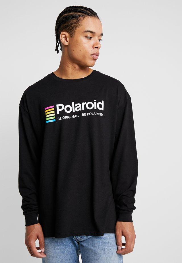 POLAROID - Bluzka z długim rękawem - black