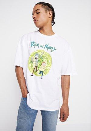 RICK AND MORTY - Camiseta estampada - white