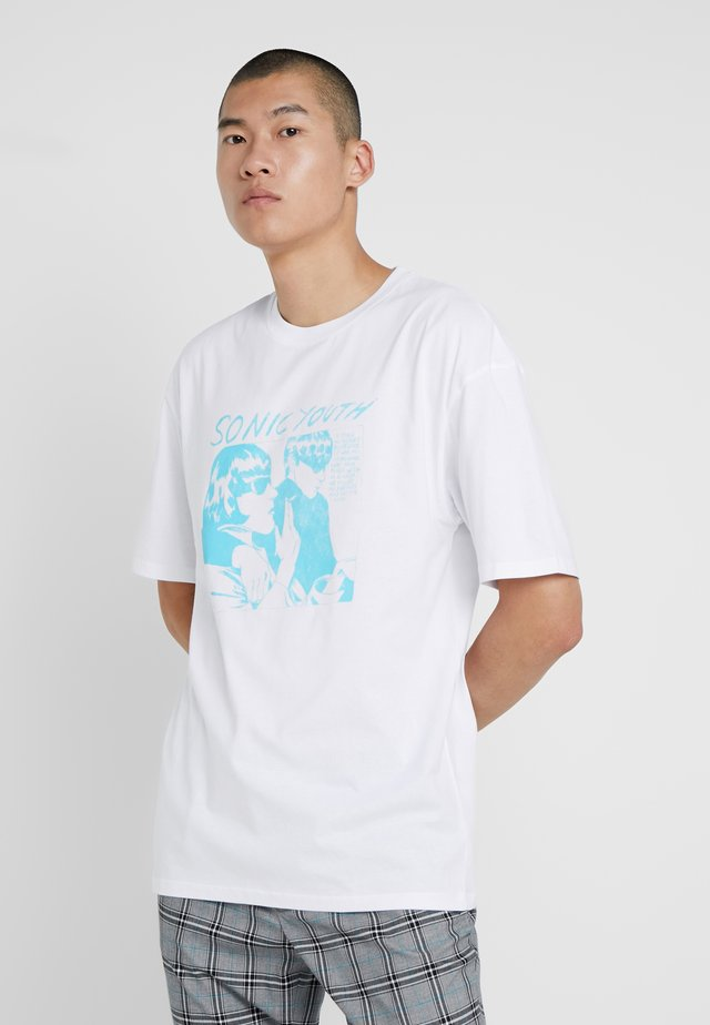 SONIC YOUTH - Print T-shirt - white