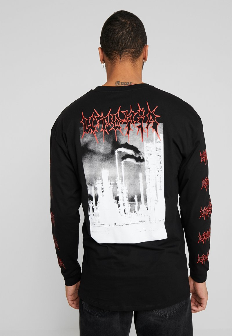 Revival Tee - RED FLAME - T-shirt à manches longues - black