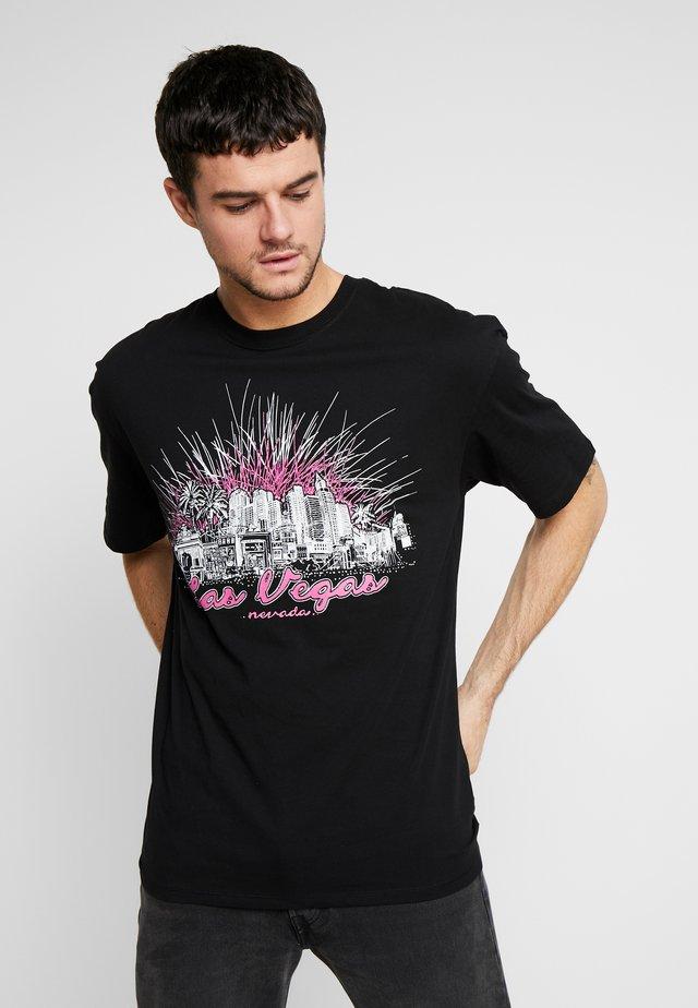 LAS VEGAS TEE - T-shirt z nadrukiem - black