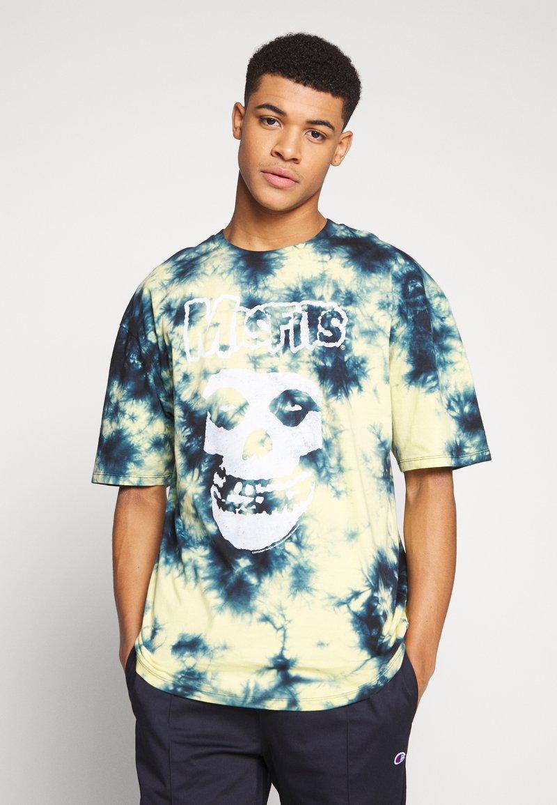 Revival Tee - MISFITS TYE DYE - T-shirt con stampa - blue