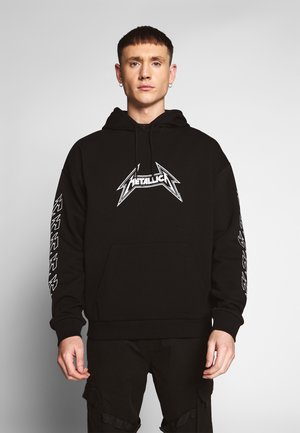 BASIC METALLICA HOODIE - Bluza z kapturem - black