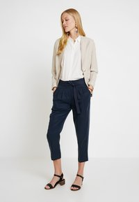 Re.draft - CROPPED PANTS - Trousers - navy - 1