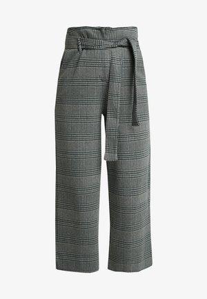 WIDE LEG PANT - Trousers - grey melange