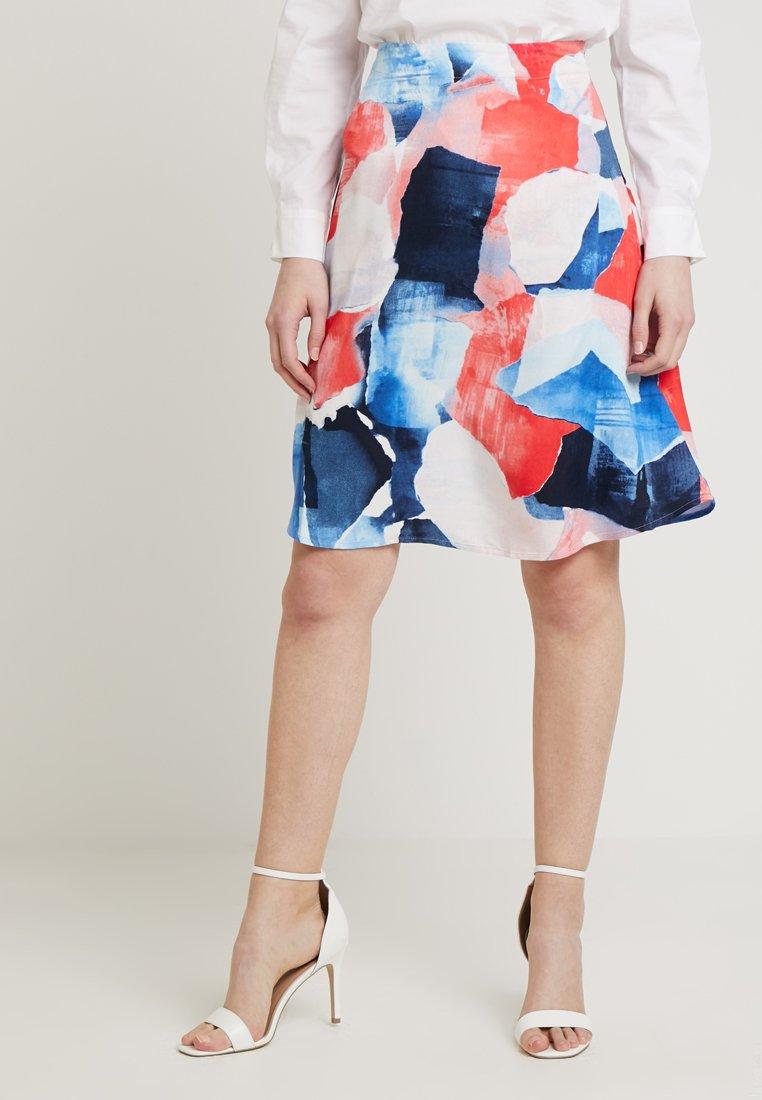 Re.draft - PRINTED SKIRT - Minifalda - hibisus