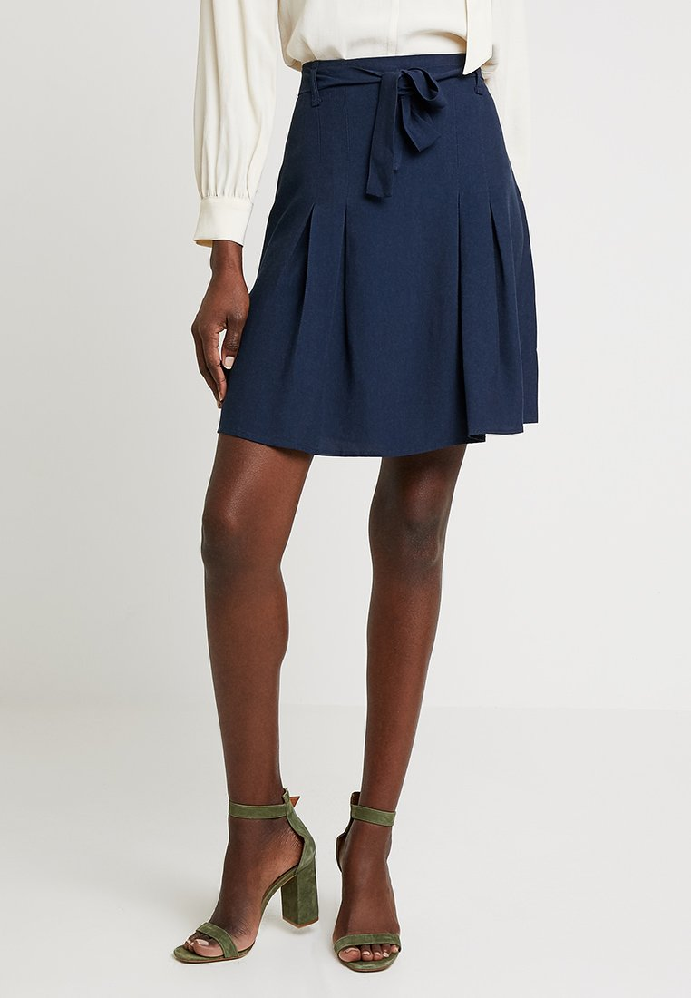 Re.draft - SKIRT - Falda acampanada - navy