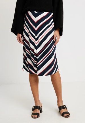 SKIRT WITH BOLD STRIPES - A-line skirt - gerbera