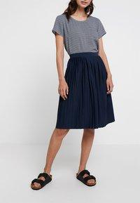 Re.draft - SKIRT - A-line skirt - navy - 0
