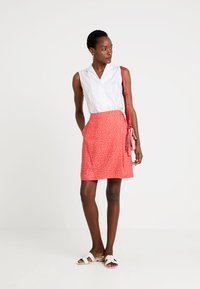 Re.draft - PRINTED SKIRT WITH KNOT - Gonna a campana - flame - 1