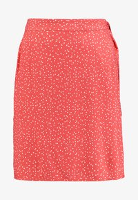 Re.draft - PRINTED SKIRT WITH KNOT - Gonna a campana - flame - 4
