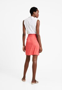 Re.draft - PRINTED SKIRT WITH KNOT - Gonna a campana - flame - 2