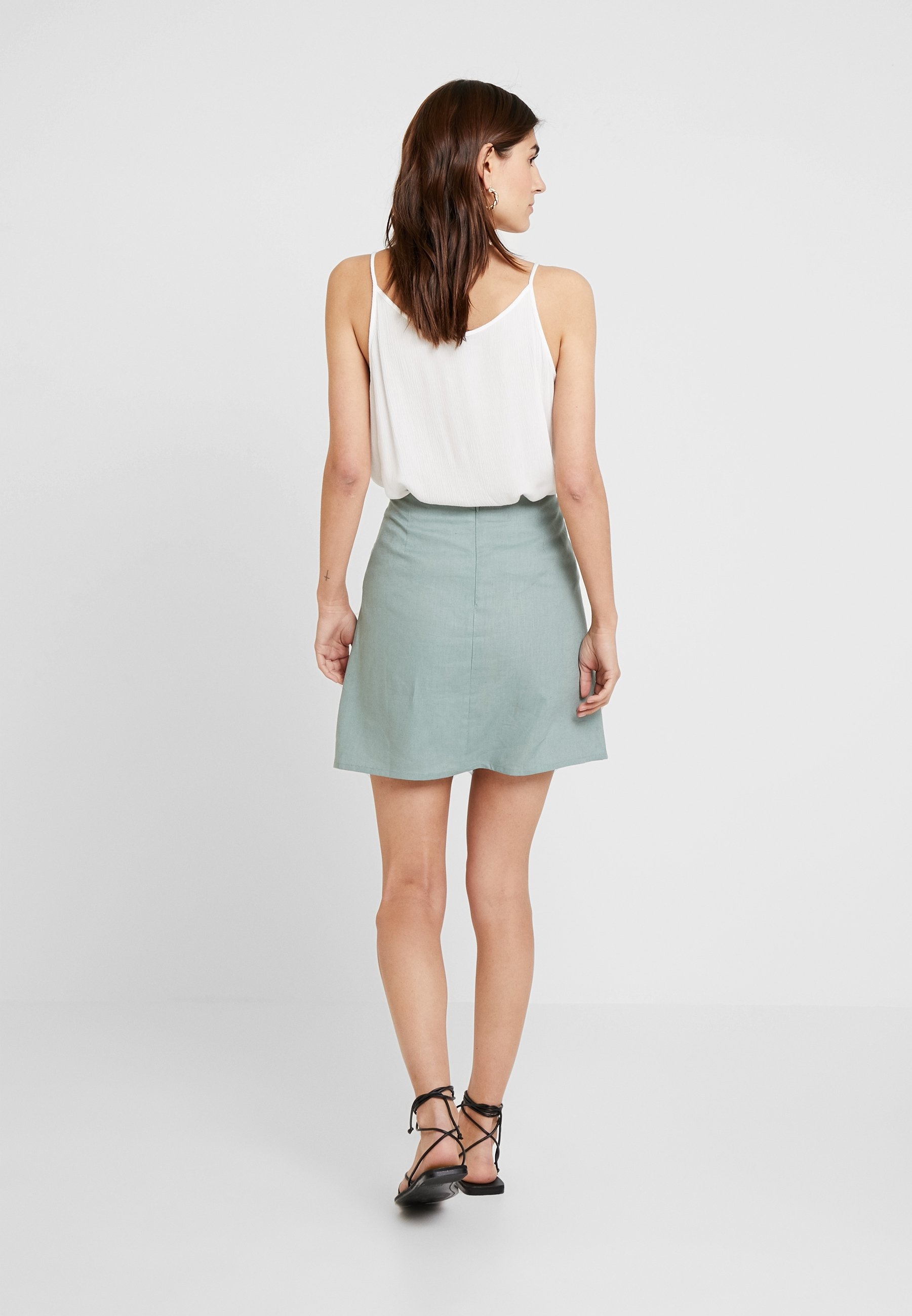 With Faded draft Olive ButtonsJupe Re Trapèze Skirt rshCtQd