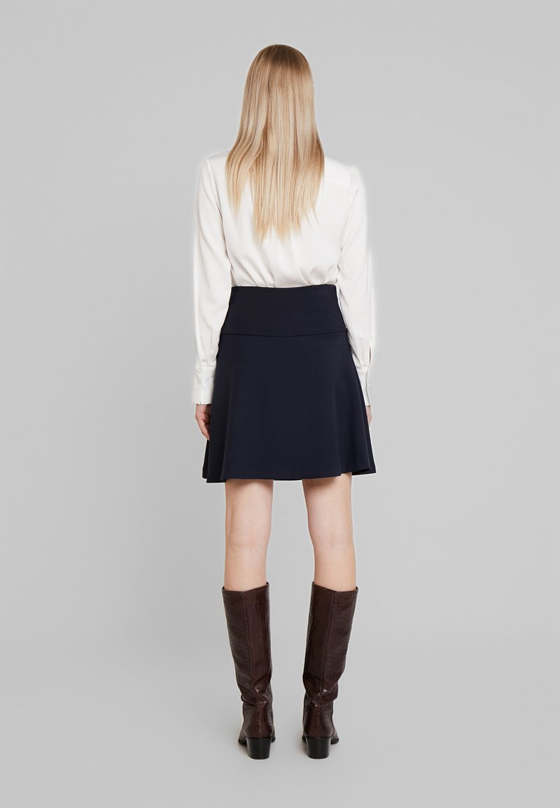 Re.draft - SKIRT - Áčková sukně - dark navy