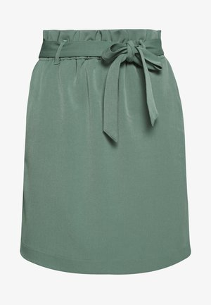 PAPERBAG SKIRT - Mini skirt - pine