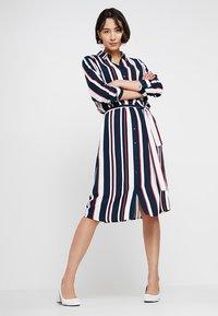 Re.draft - STRIPED DRESS WITH BELT - Shirt dress - dark blue - 2