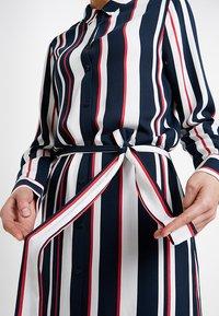 Re.draft - STRIPED DRESS WITH BELT - Shirt dress - dark blue - 7