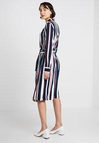 Re.draft - STRIPED DRESS WITH BELT - Shirt dress - dark blue - 3
