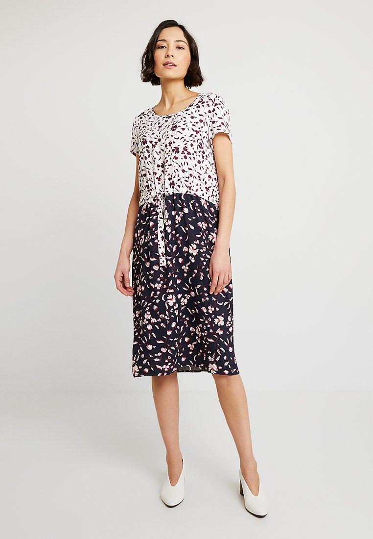 Re.draft - PRINT MIX DRESS - Day dress - navy
