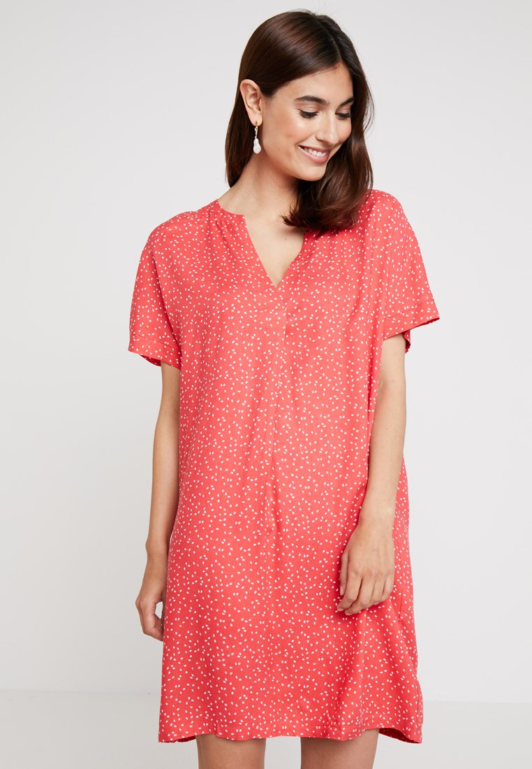 Re.draft - DRESS WITH PLEAT - Day dress - flame