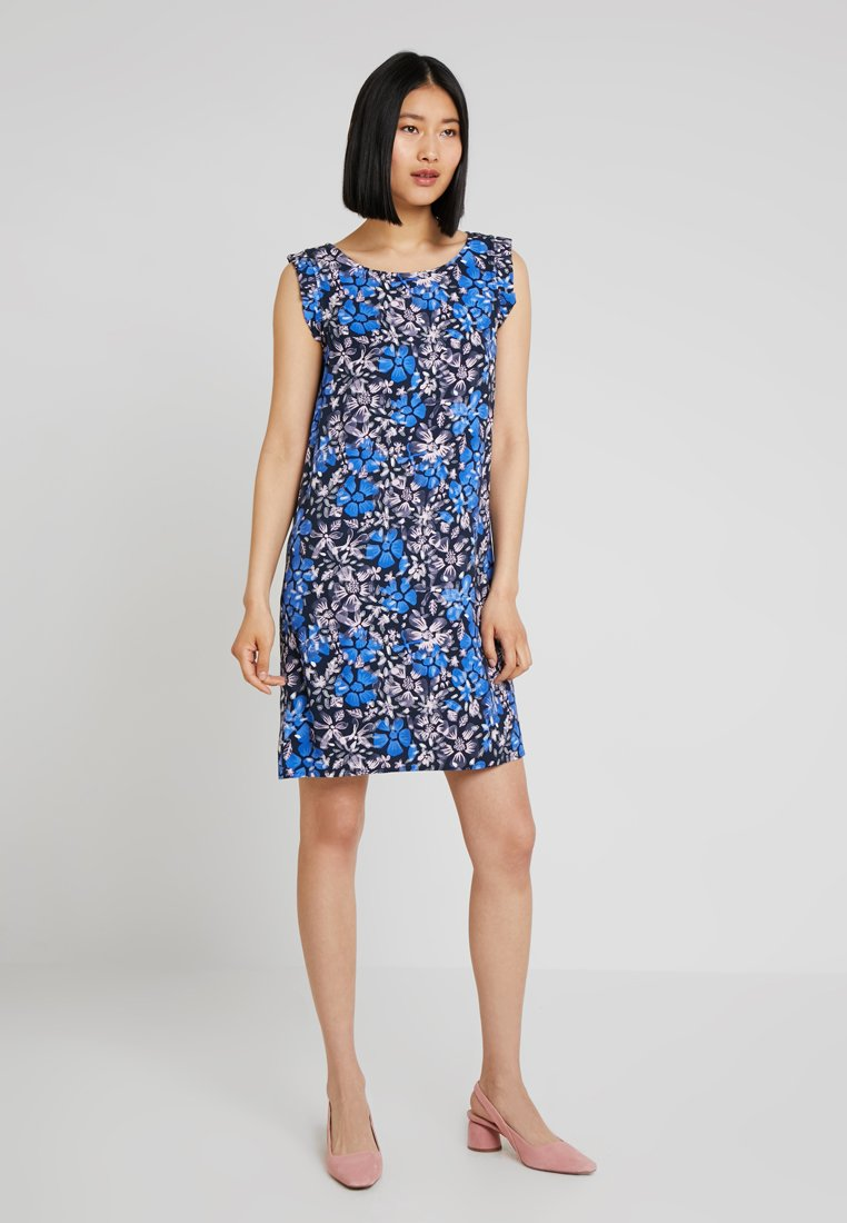 Re.draft - PRINTED A LINES DRESS - Day dress - navy