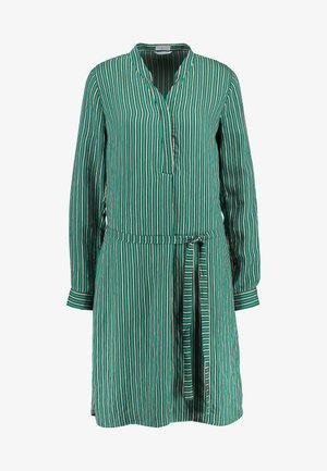 STRIPED DRESS - Vestido camisero - cobalt green