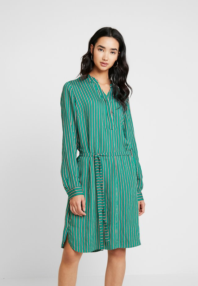 STRIPED DRESS - Skjortklänning - cobalt green
