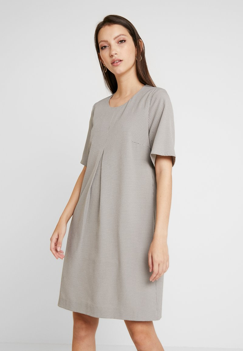 Re.draft - DRESS WITH PLEAT - Shift dress - check