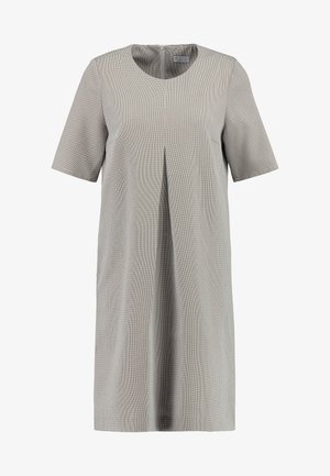 DRESS WITH PLEAT - Shift dress - check