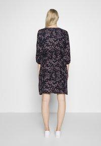Re.draft - PRINTED FLOWER DRESS - Day dress - black - 2