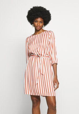 STRIPED DRESS - Day dress - white